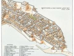 Ricostruzione del molo vecchio di Genova a fine '400