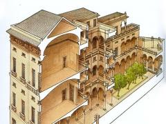 Sezione prospettica del palazzo di Giacomo e Pantaleo Balbi