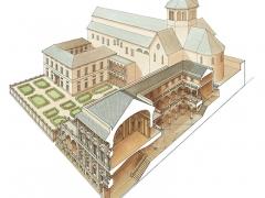 Sezione prospettica del palazzo di Nicola Grimaldi (Tursi)