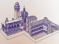 Sezione prospettica di Santa Maria di Castello