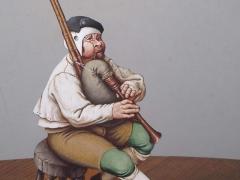 Guido Zibordi Marchesi presepe statuina suonatore