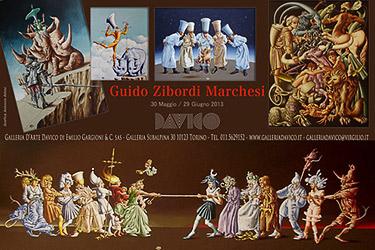 mostra Guido Zibordi Marchesi alla Galleria Davico di Torino